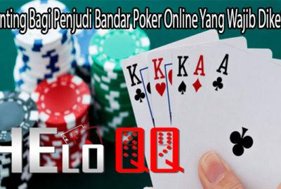 Hal Penting Bagi Penjudi Bandar Poker Online Yang Wajib Diketahui